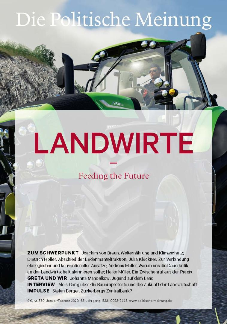 """Das Magazin """"Die Politische Meinung"""" widmet der grünen Branche eine ganze Ausgabe."""